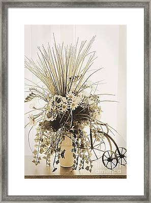 Vase With Flowers On A Window Table Framed Print