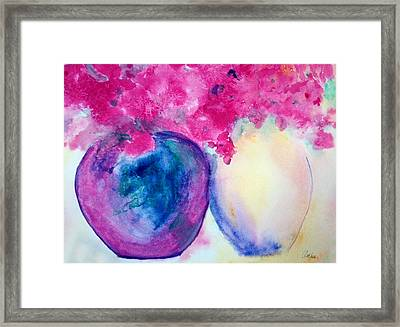Vases Of Beauty Framed Print by Alethea McKee