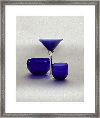 Vases Of Blue Framed Print by Gennadiy Titkov