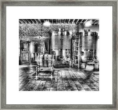 Vat To Barrel Framed Print by Jimmy Ostgard
