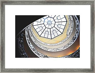 Vatican Staircase Framed Print by Heather Marshall