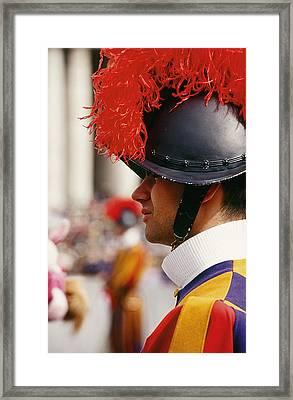 Vatican Swiss Guard Framed Print by Carlos Diaz