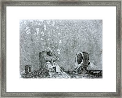 Framed Print featuring the drawing Vault Of Souls by Mariusz Zawadzki