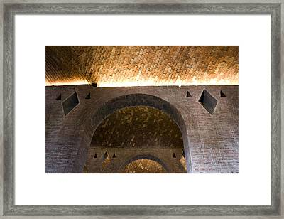 Vaulted Brick Arches Framed Print by Lynn Palmer