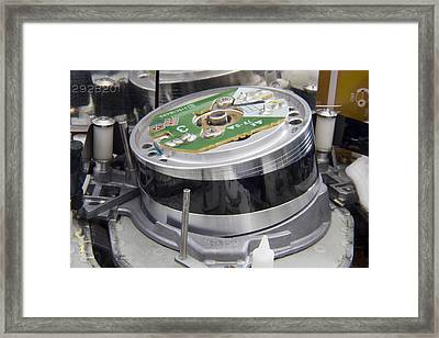 Vcr Head Drum Framed Print by Sheila Terry