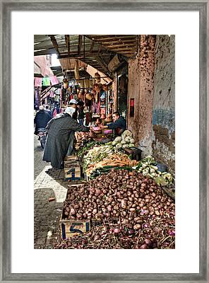 Veg Alley Framed Print