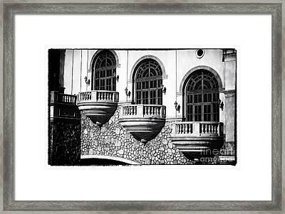 Vegas Balconies Framed Print by John Rizzuto