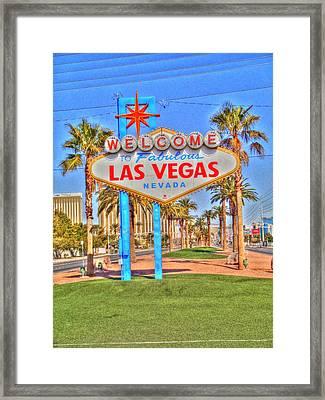 Vegas Framed Print by Barry R Jones Jr
