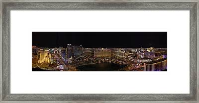 Vegas Strip From Eiffel Tower Framed Print