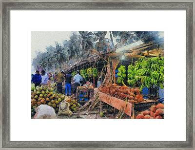 Vegetable Sellers Framed Print