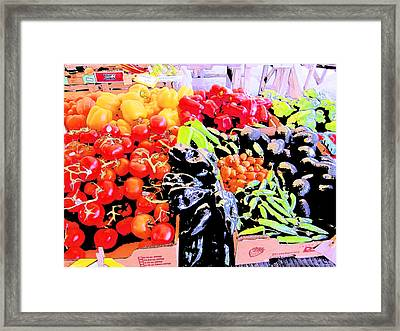 Vegetables On Display Framed Print by Kym Backland