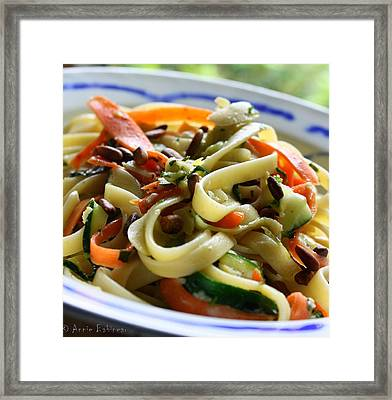 Veggie Ribbon Pasta Framed Print by Anne Babineau