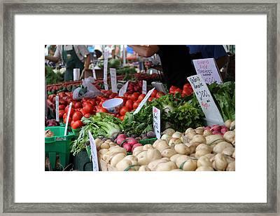 Veggie Stand Framed Print by Kim French