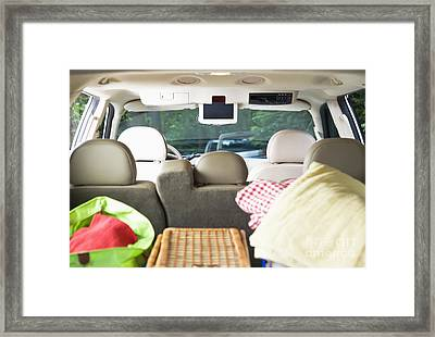 Vehicle Packed For Picnic Framed Print