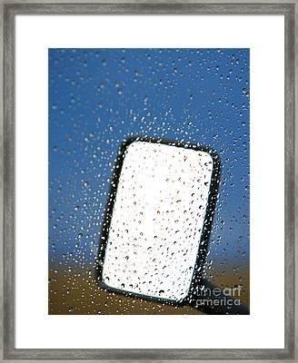 Vehicle Side Mirror Framed Print by David Buffington