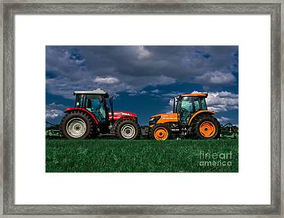 Vehicular Osculation Framed Print by Warren Sarle