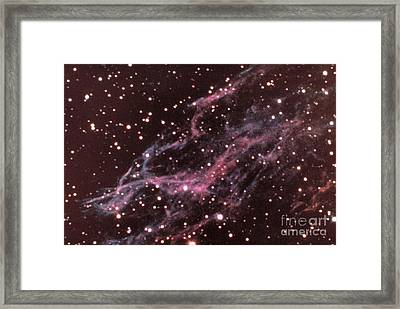 Veil Nebula In Cygnus Framed Print by USNO / Science Source