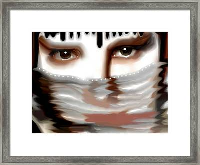 Framed Print featuring the painting Veiled Sadness by Susan  Solak