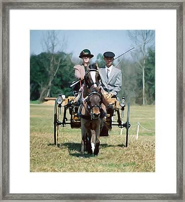 Vel Drives The Pony Tandem Framed Print