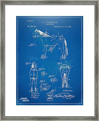 Velocipede Horse-bike Patent Artwork 1893 Framed Print