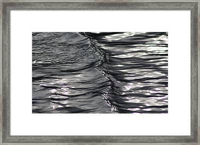 Velvet Ripple Framed Print by Cathie Douglas