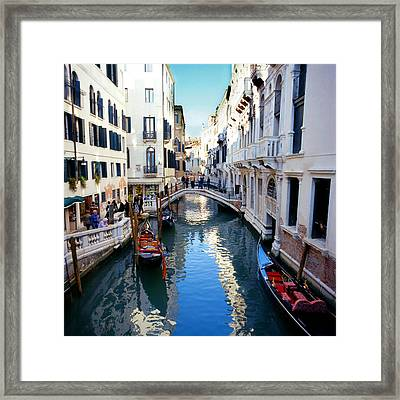 Venetian Canal Framed Print by Paul Cowan
