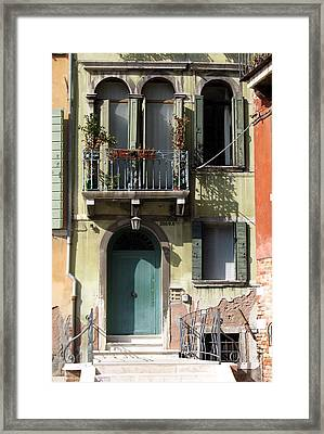 Venetian Doorway Framed Print by Carla Parris