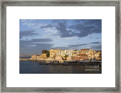 Venetian Harbor At Sunset Framed Print by Gloria & Richard Maschmeyer