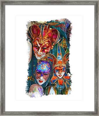 Venetian Masks Framed Print by Judy Deist