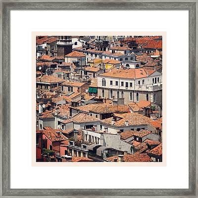 Venetian Rooftops Framed Print