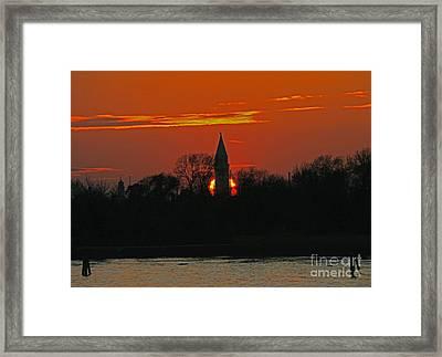Venetian Sunrise Framed Print by Joan McArthur