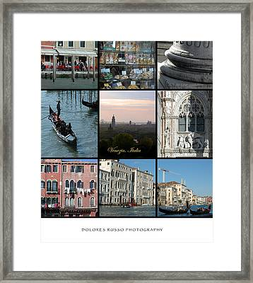 Venezia Framed Print by Dolores Russo