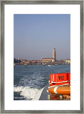 Framed Print featuring the photograph Venezia. From The Ferry To Murano. by Raffaella Lunelli