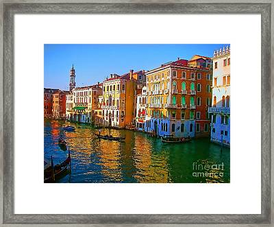 Venice - Central Canal Framed Print by Jerry L Barrett