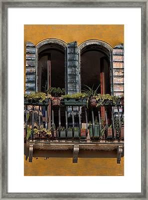 Venice Balcony Framed Print by Tom Prendergast