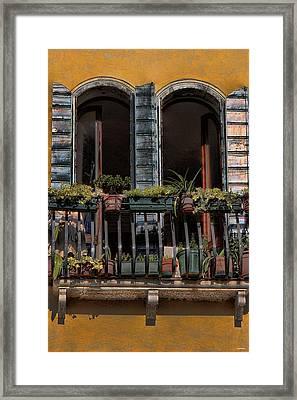 Venice Balcony Framed Print