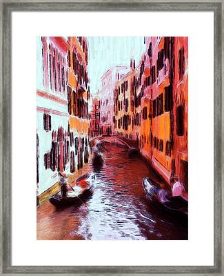 Venice By Gondola Framed Print by Steve K