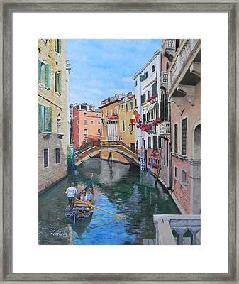 Venice Canal Framed Print