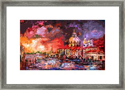 Venice Canal Italy  Framed Print by Ginette Callaway