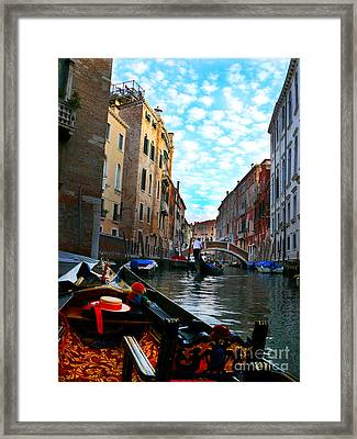 Framed Print featuring the photograph Venice Canal by Jeanne  Woods