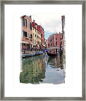Framed Print featuring the photograph Venice Canal by Judy Deist