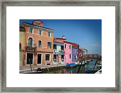 Venice Canal Framed Print by Linda Woods