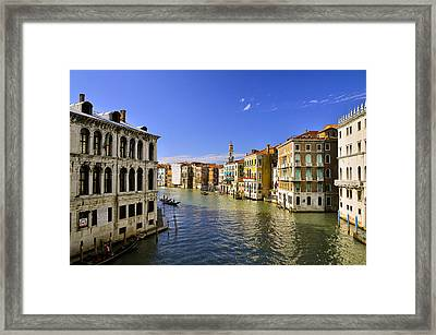 Venice Canale Grande Framed Print by Travel Images Worldwide
