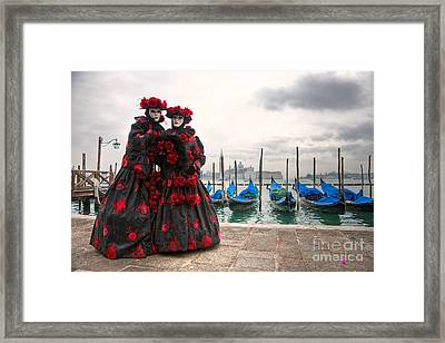 Framed Print featuring the photograph Venice Carnival Mask by Luciano Mortula