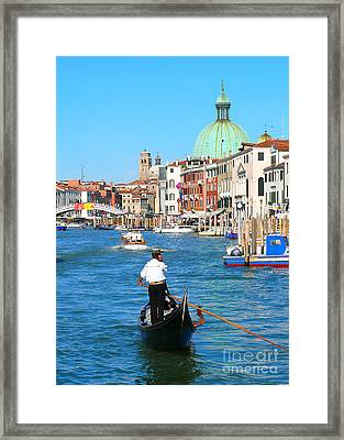 Framed Print featuring the photograph Venice Cell Phone by Jeanne  Woods