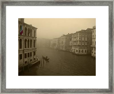 Framed Print featuring the photograph Venice by David Gleeson