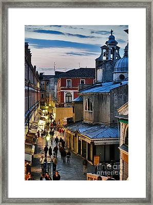 Venice From Ponte Di Rialto Framed Print