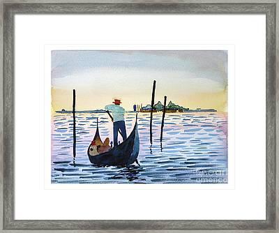 Venice Gondola Framed Print