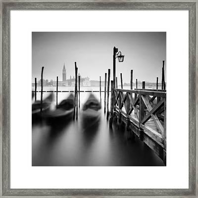 Venice Gondolas II Framed Print by Nina Papiorek