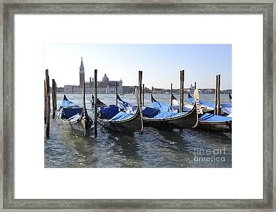Framed Print featuring the photograph Venice Gondolas by Rebecca Margraf